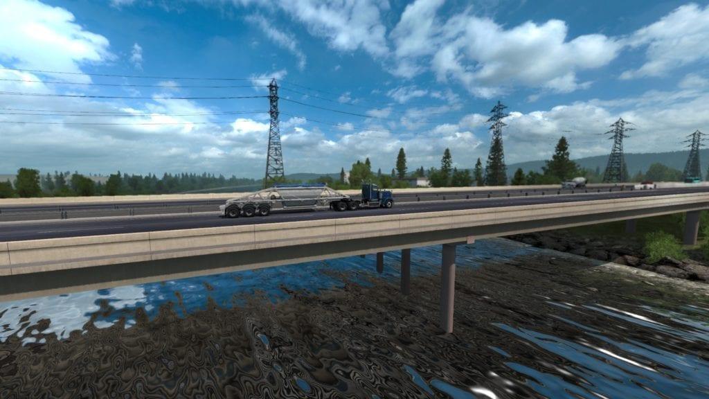 American Truck Simulator Oregon Dlc Beautiful River Bridge