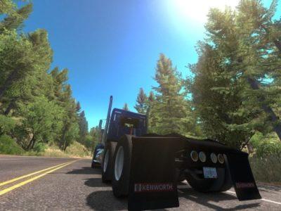 American Truck Simulator Oregon Dlc Forest Above