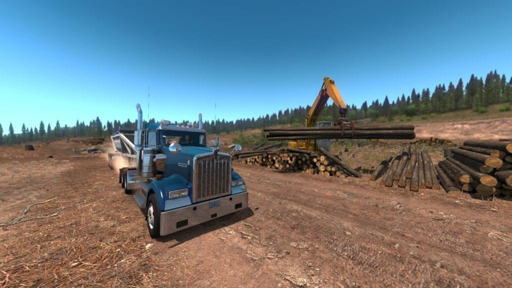American Truck Simulator Oregon Dlc Lumber Yard 3