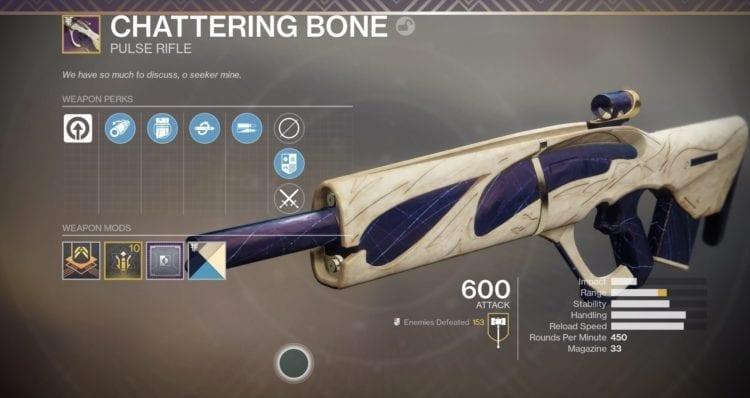 Destiny 2 Forsaken Festival Of The Lost Horror Story Vs. Chattering Bone