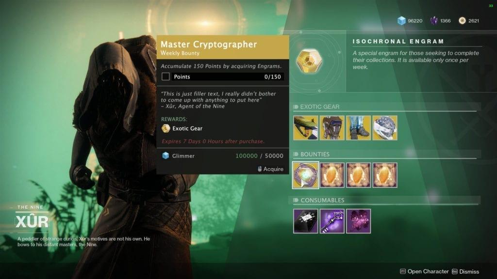 Destiny 2: Forsaken - Fixing Xur, Exotic Gear, Masterworks, And