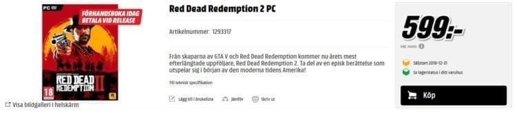Red Dead Redemption 2 Mediamarkt