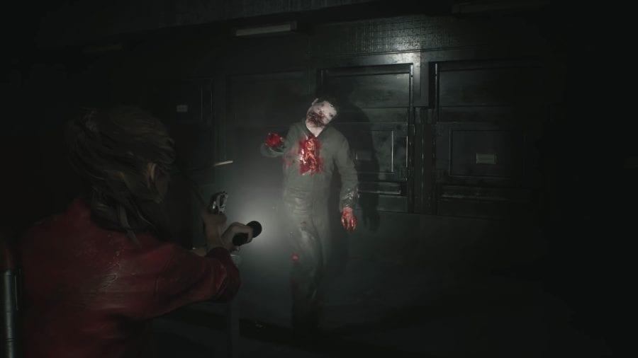 Resident Evil 2 Licker Battle Gameplay 2 9 Screenshot