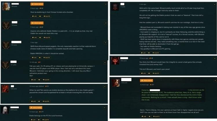 Diablo Immortal Blizzard Forum Reactions 1