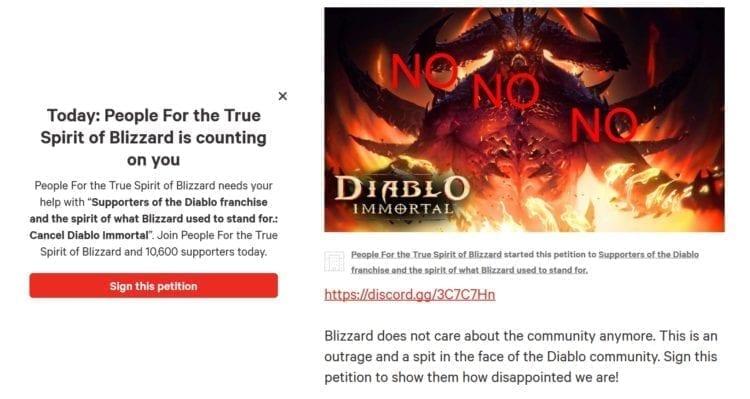 Diablo Immortal Change Petition