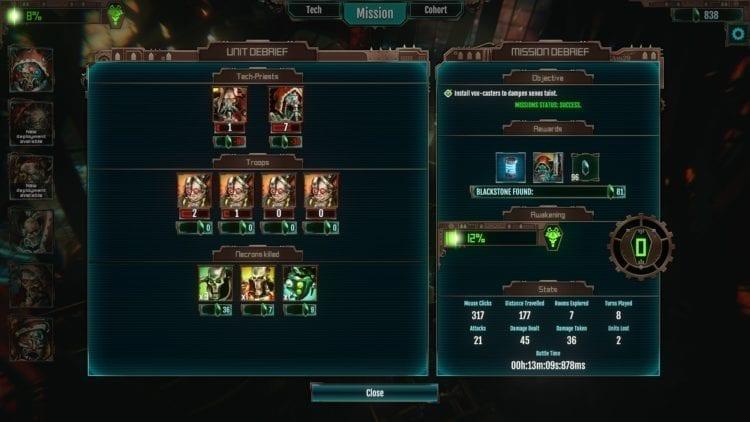Warhammer 40k Mechanicus Review Post Battle Screen
