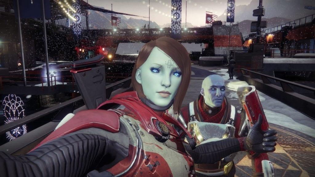 Destiny 2 Black Armory The Dawning Selfie