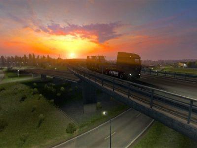 Ets 2 Beyond The Baltic Dlc Estonia Sunset