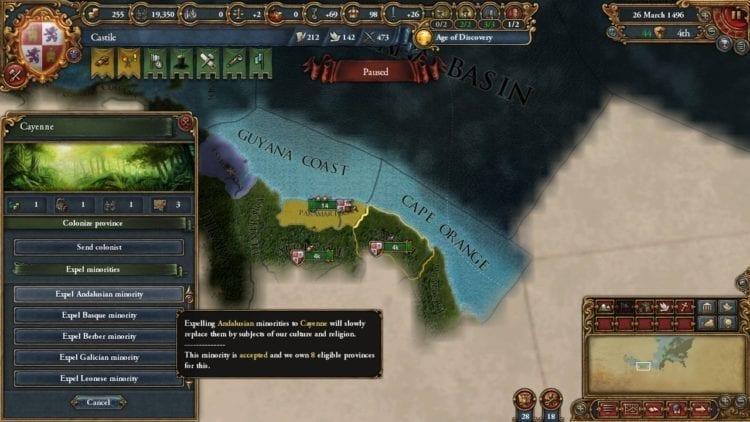 Europa Universalis 4 Golden Century Review Expel Minority