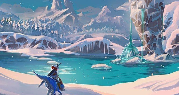 Monster Hunter Stories Screenshot Of Snowy Mountain
