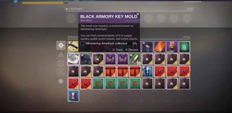 Destiny 2 Black Armory Niobe Labs Bergusia Forge Forge Key Mould