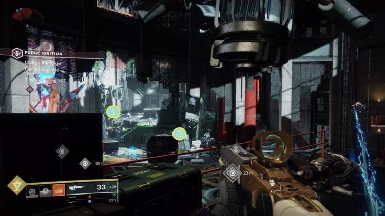 Destiny 2 Black Armory Niobe Labs Bergusia Forge Walkway