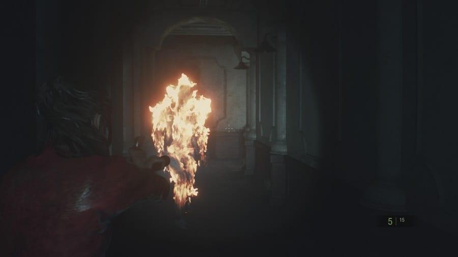 Resident Evil 2 Fire 1