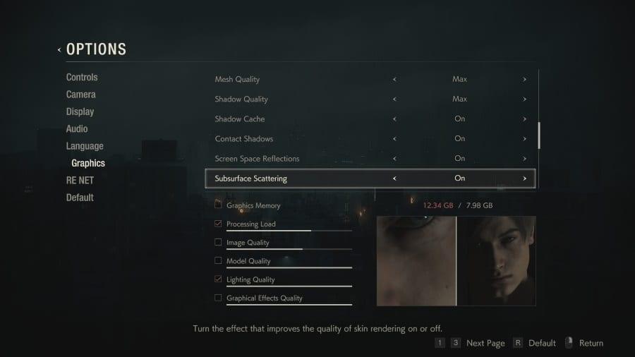Resident Evil 2 Tech Settings
