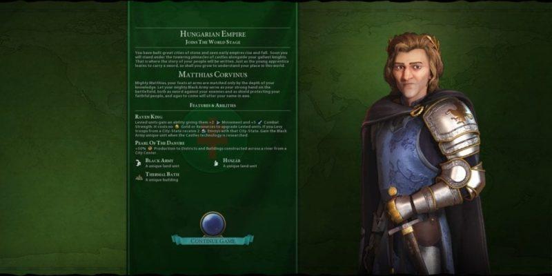 Civilization 6 Civ 6 Gathering Storm Hungary Deity Guide Corvinus