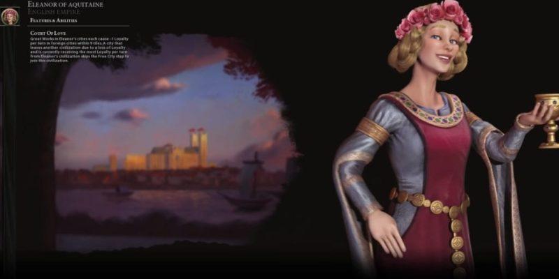 Civilization Vi Gathering Storm Eleanor Of Aquitaine