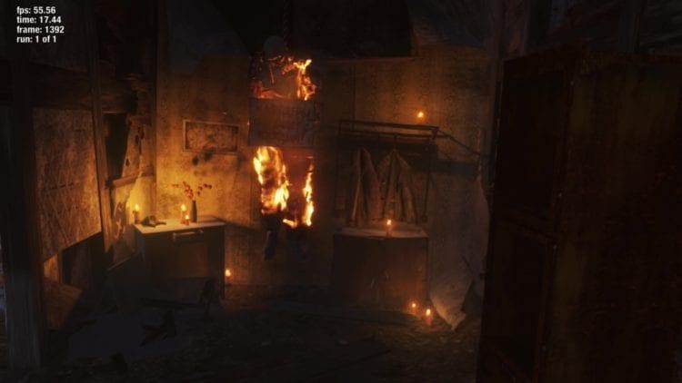 Metro Exodus Fire Low Graphics Setting