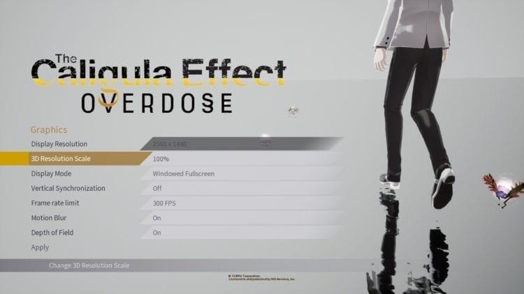 Caligula Effect Options