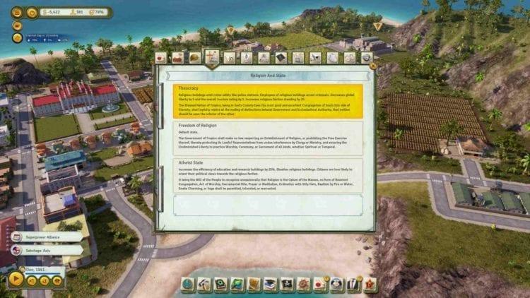 Tropico 6 Theocracy