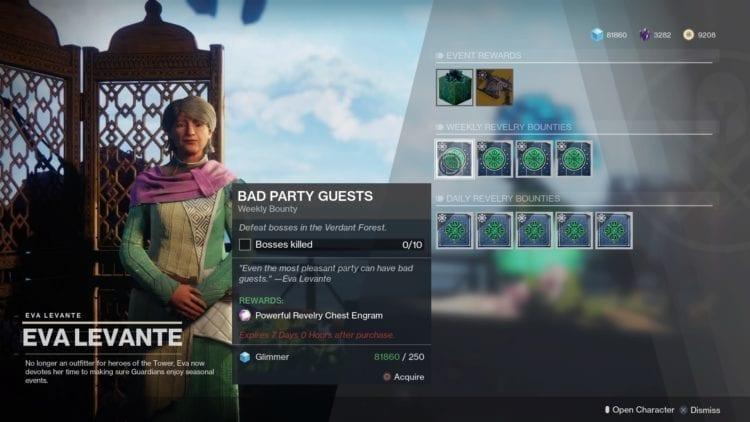 Destiny 2 - The Revelry Spring Event Guide - Eva bounties