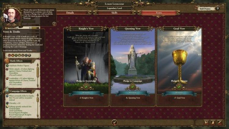 Total War Warhammer 2 Bretonnia Vows