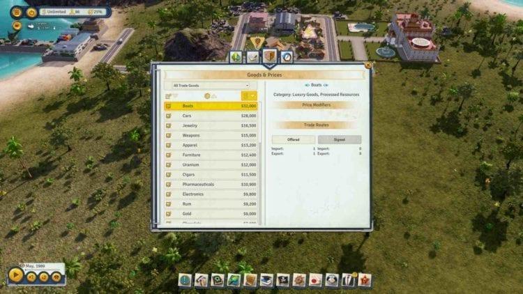 Tropico 6 Trade List
