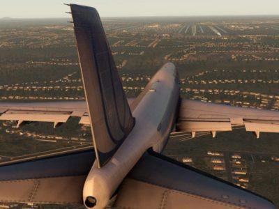 X Plane 11 747 Sunset