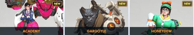 Academy Dva Gargoyle Winston Honeydew Mei