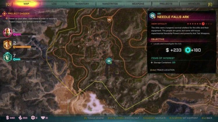 Rage 2 Needle Falls Ark Location