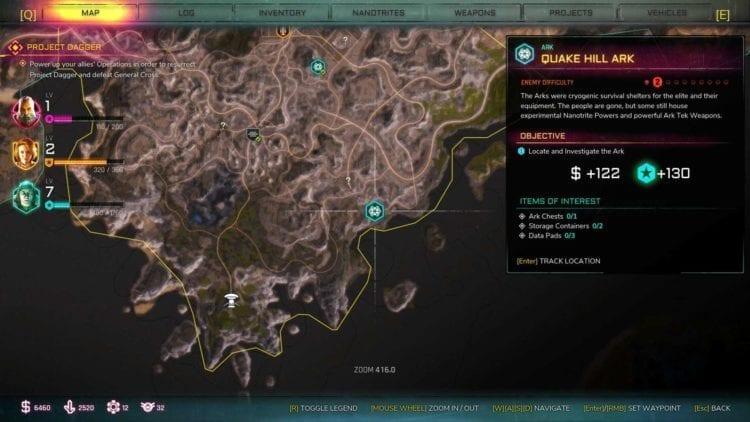 Rage 2 Quake Hill Ark Location