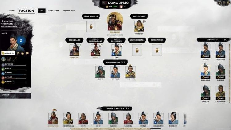 Total War Three Kingdoms Dong Zhuo Lu Bu Guide Court And Family
