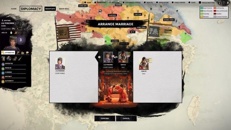 Total War Three Kingdoms Liu Bei Guide Sun Ce Marriage