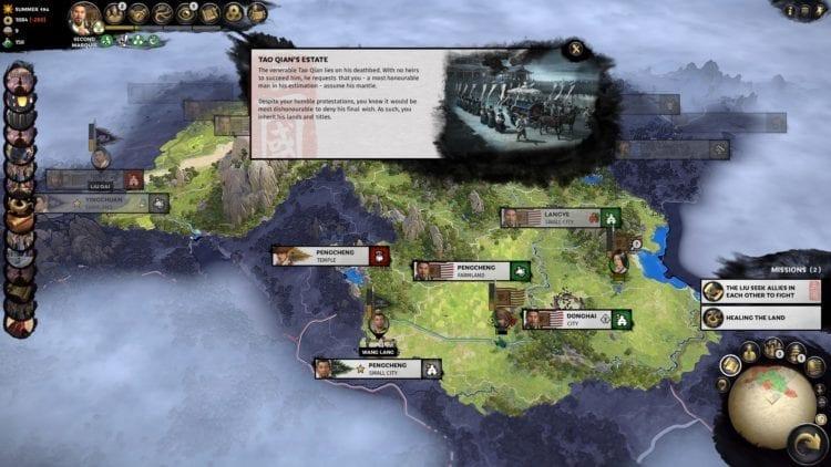 Total War Three Kingdoms Liu Bei Guide Faction Dilemma Tao Qian Dies