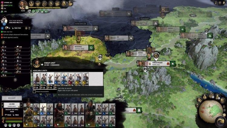 Total War Three Kingdoms Liu Bei Guide Militia Discounts