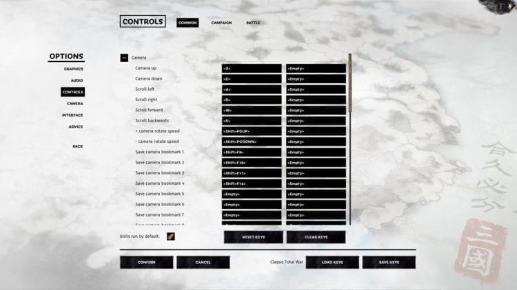 Total War Three Kingdoms Technical Review Controls