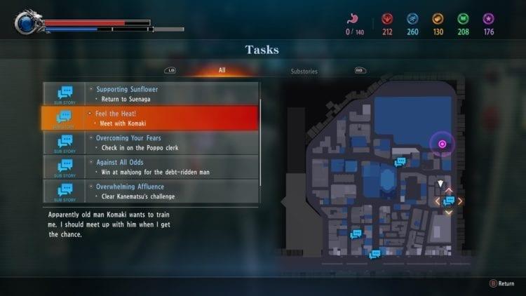 Yakuza Kiwami 2 Tasks