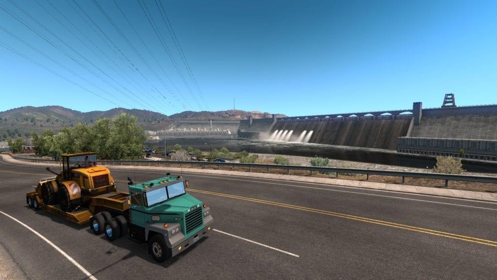 American Truck Simulator Washington Grand Coulee Dam