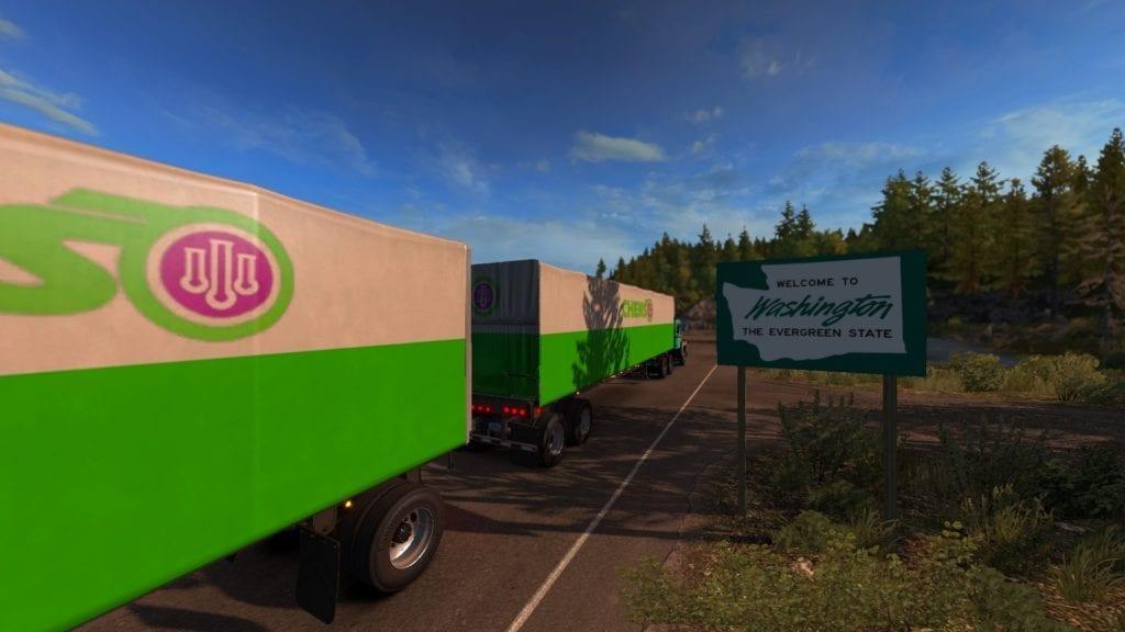 American Truck Simulator Washington State Sign