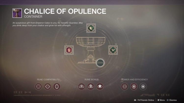Chalice Of Opulence Rune Slots - Werner 99-40 bounties