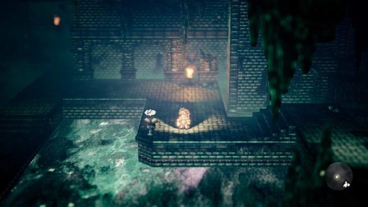 Octopath Traveler Corner Shadows On