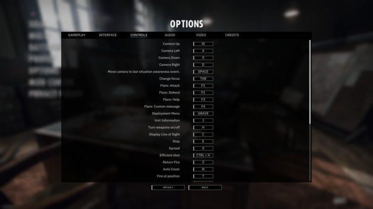 Options Controls