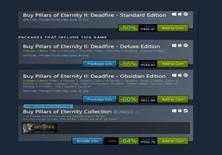 Steam Summer Sale 2019 Best Deals Pillars Of Eterntiy 2 Deadfire