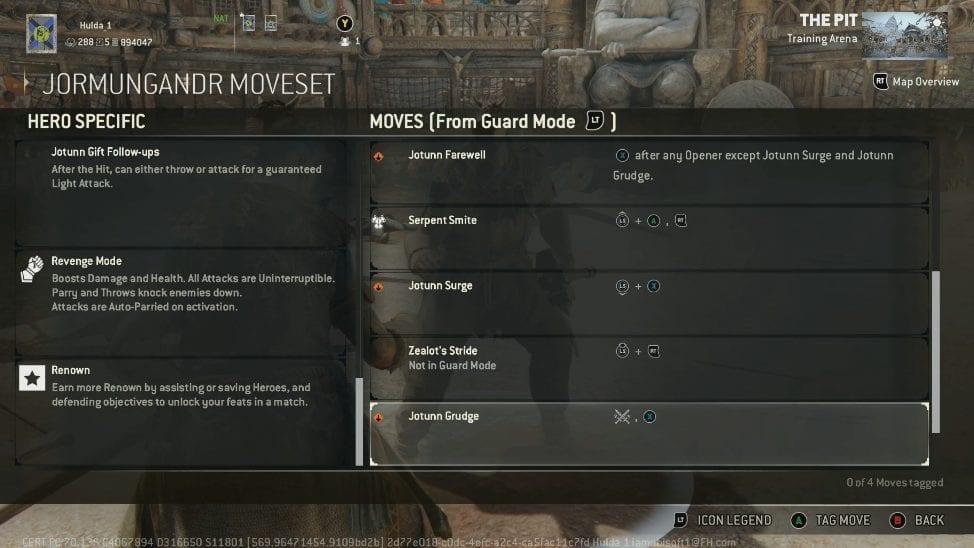 move list