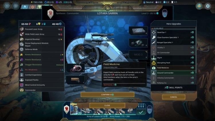Age Of Wonders Planetfall Vanguard Faction Guide Commander Skills