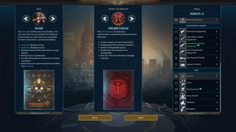 Dv Commander Promethean Secret Tech