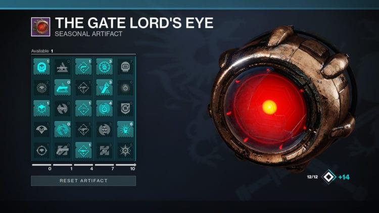 Destiny 2 Seasonal Artifact