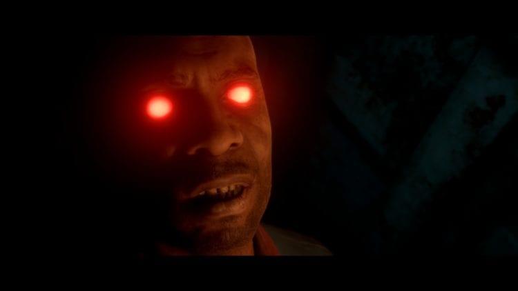 Endings The Dark Pictures Man Of Medan Cyborg Red Laser Eyes Olson post-credits scene