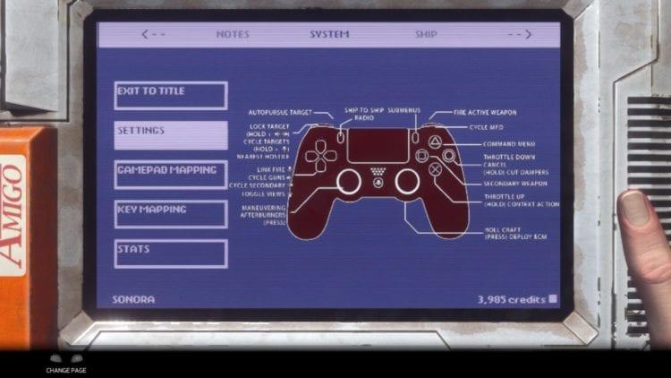 Gamepad Menu Controls