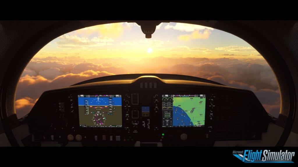 Microsft Flight Simulator 2020 Sunglazed Cockpit View