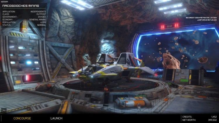 Rebel Galaxy Outlaw - Nacogdoches space terminal